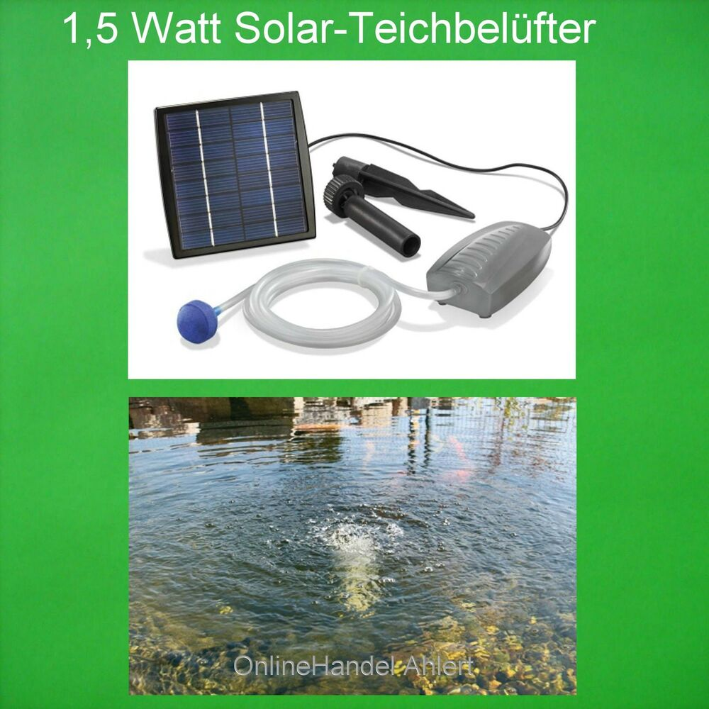1 5 watt solar teichbel fter sauerstoffpumpe gartenteich teich bel fter pumpe ebay. Black Bedroom Furniture Sets. Home Design Ideas