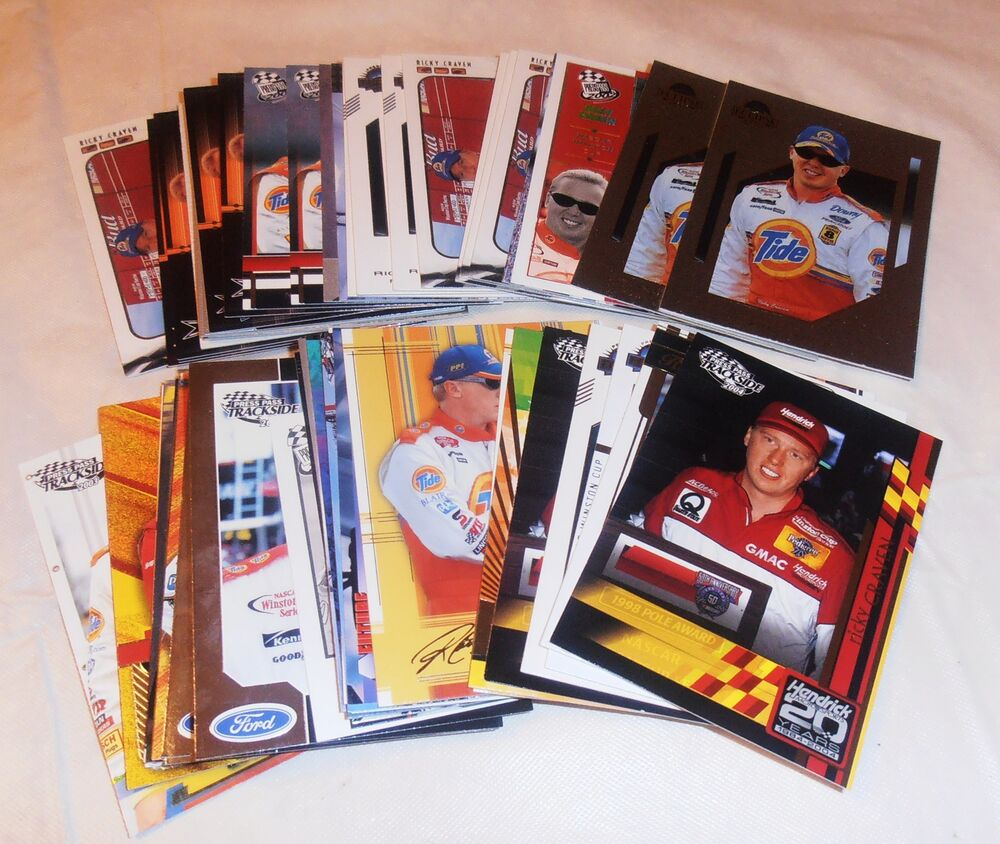 61- VINTAGE RICKY CRAVEN NASCAR CARD LOT