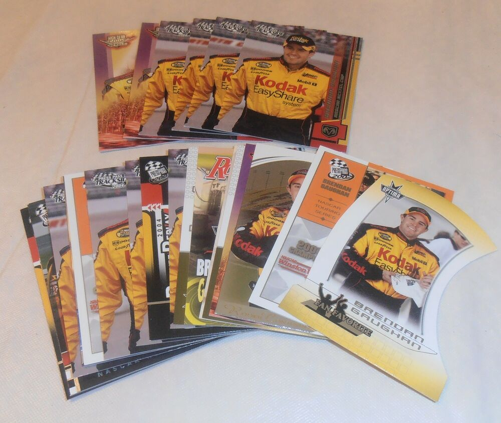 25- VINTAGE BRENDAN GAUGHAN NASCAR CARD LOT