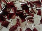 BURGUNDY BAROQUE handcut stained glass mosaic tiles, 8 sizes choices #4