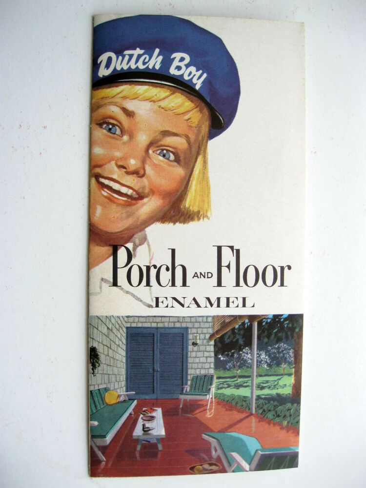 1961 Dutch Boy Porch And Floor Enamel Sample Paint Chips