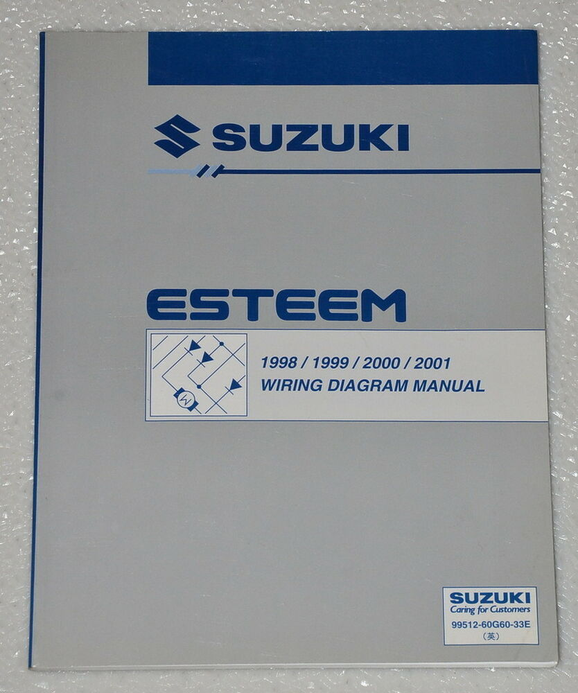1998 2001 suzuki esteem electrical wiring diagrams shop manual gl rh ebay com 2000 Suzuki Esteem 1998 Suzuki Esteem Thermostat Location