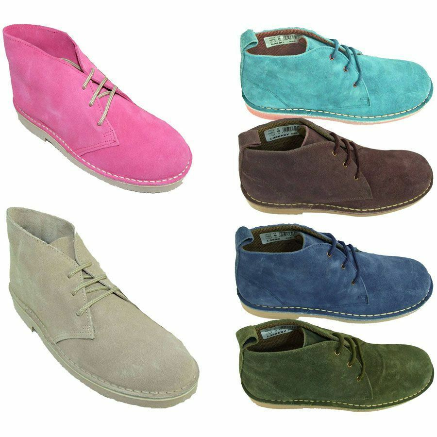 d0d2c15da1f Details about Roamers LADIES Real Suede DESERT BOOTS Non Slip Sole - Normal    Wide Fitting