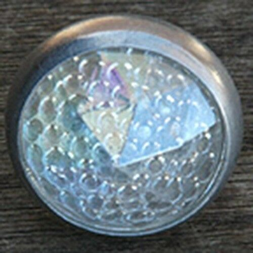 Clear Rainbow Faceted Glass Jewel Reflector Vintage