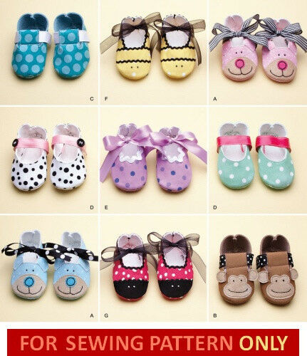 SEWING PATTERN MAKE BABY SHOES BOY GIRL BOOTIES 9