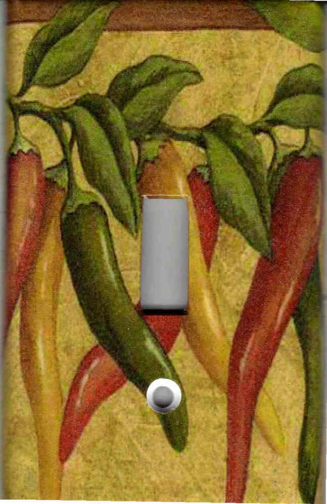 CHILI PEPPERS ON VINES HOME WALL DECOR LIGHT SWITCH PLATE
