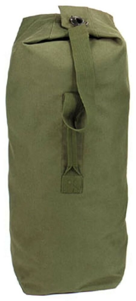 Duffle Bag Canvas Olive Drab Top Load Various Sizes Available Rothco 3339 Ebay