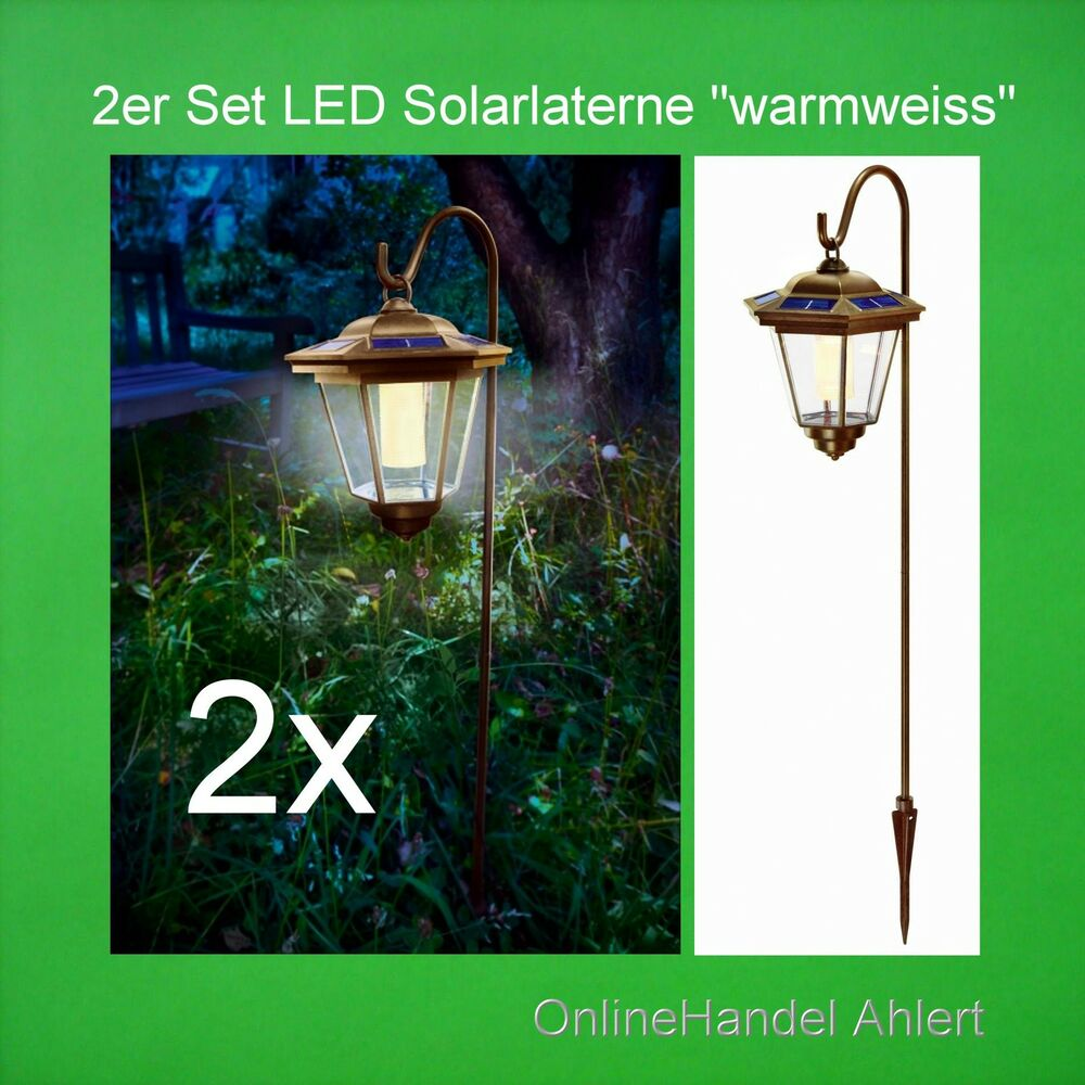 led solarleuchte solar gartenlaterne gartenleuchte laterne. Black Bedroom Furniture Sets. Home Design Ideas