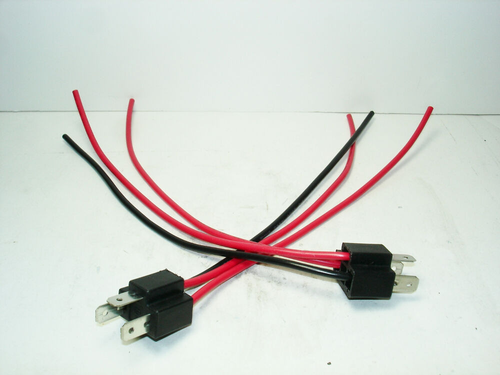 2 new h4 headlight bulb male wire harness connector wiring. Black Bedroom Furniture Sets. Home Design Ideas