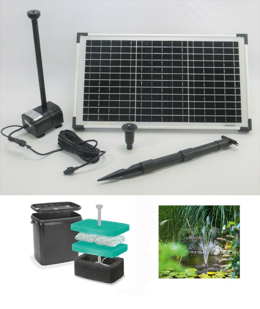 20 w solarpumpe filterbox filter solar gartenpumpe teichpumpe tauchpumpe pumpe ebay. Black Bedroom Furniture Sets. Home Design Ideas