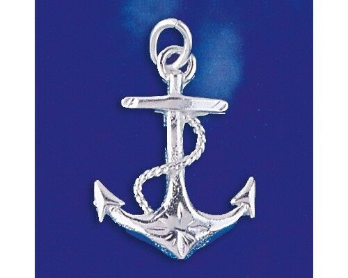 Sterling Silver Mariners Cross Anchor Pendant Sailor Charm