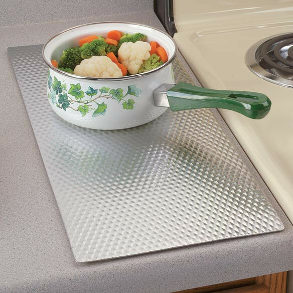 Kitchen Trivets: Non Skid Rubber Backing LARGE Insulated Kitchen Protect