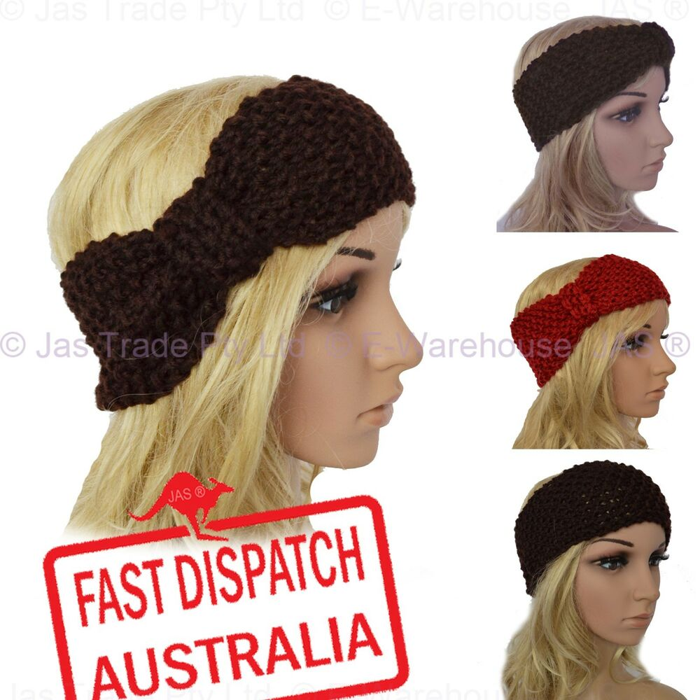 Crochet Turban Headband Ear Warmer Hair Band Knit Knitted ...