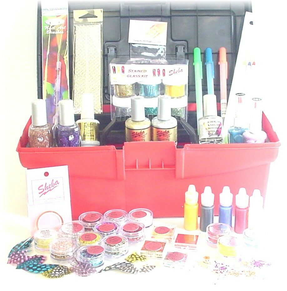 Master Acrylic Gel Nail Art Kit Sheba Nails Glitter Polish