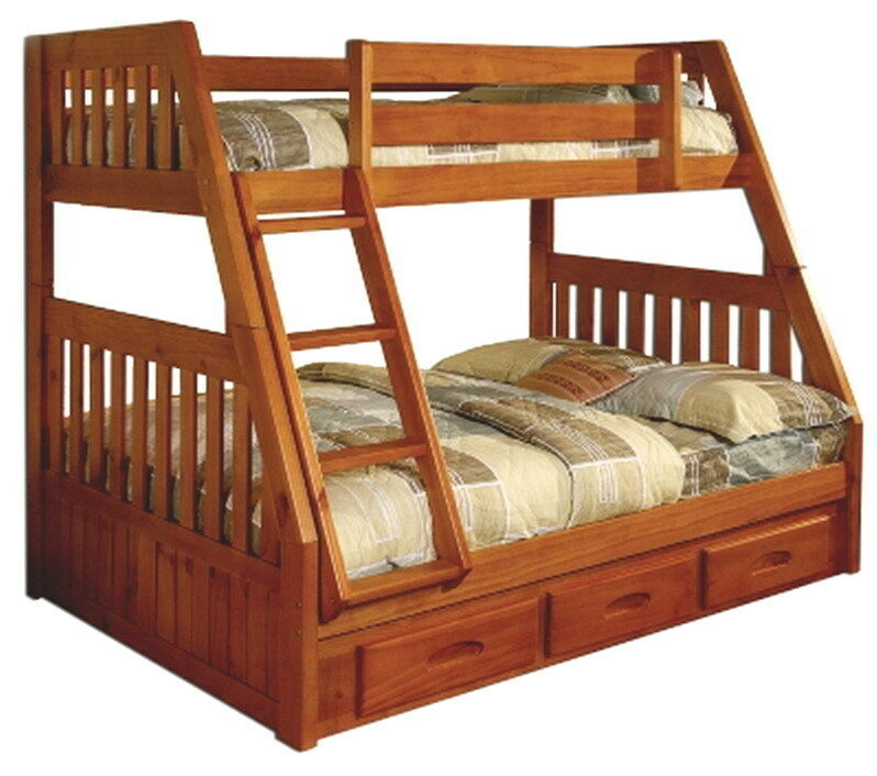 New kids bedroom furniture bunk bed twin over full