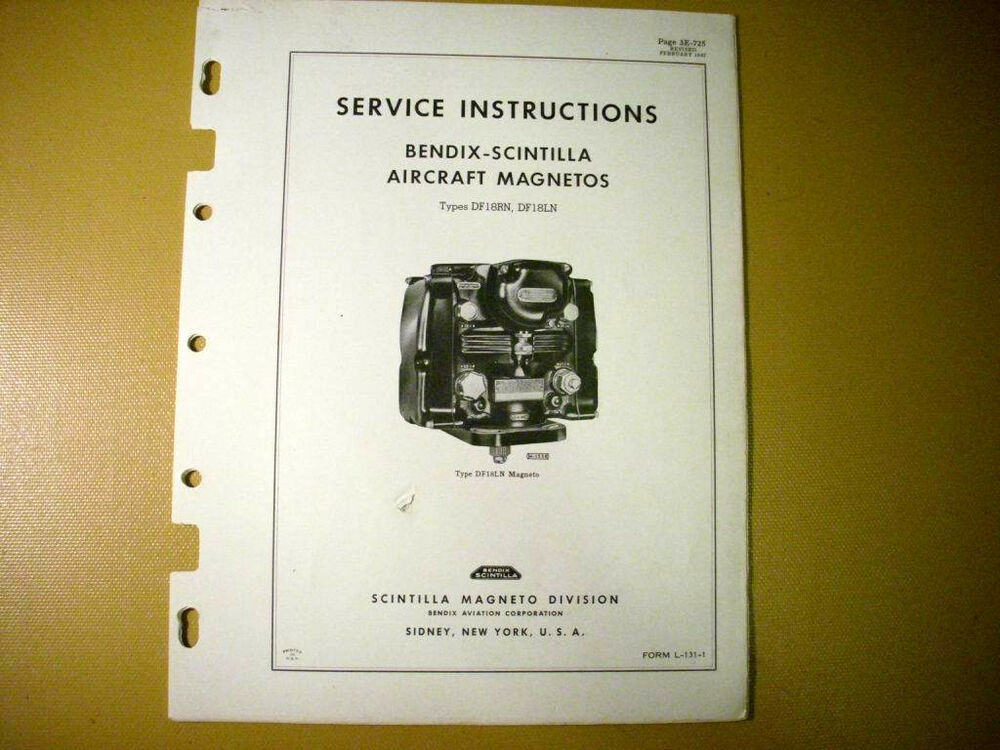 Service manual For Bendix Magneto