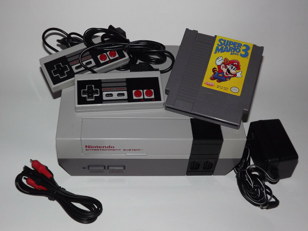nintendo nes system console with guarantee new 72 pin. Black Bedroom Furniture Sets. Home Design Ideas
