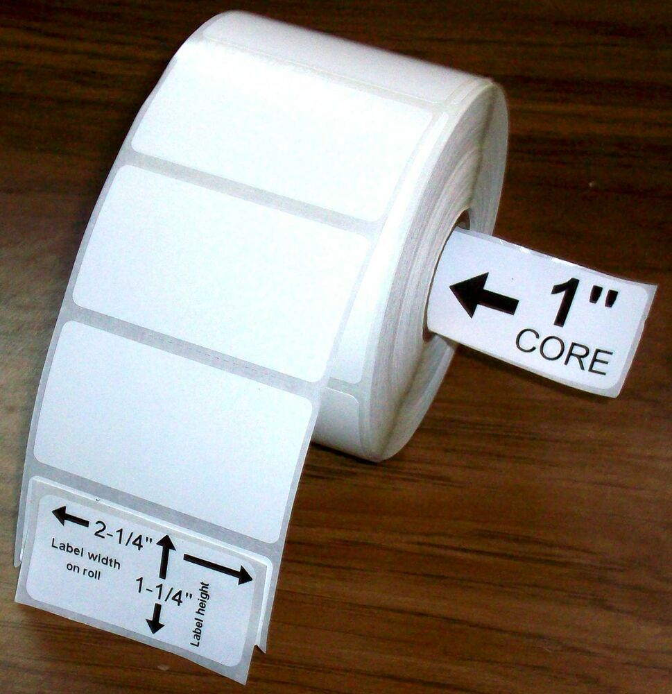 2.25x1.25 15 Rolls Direct Thermal Premium Top Coated ...