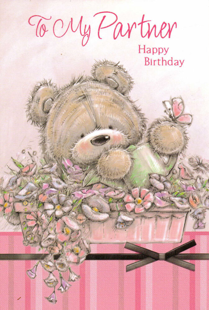 Happy birthday wishes to my partner with love female cute and traditional card ebay - Happy birthday my love cards ...