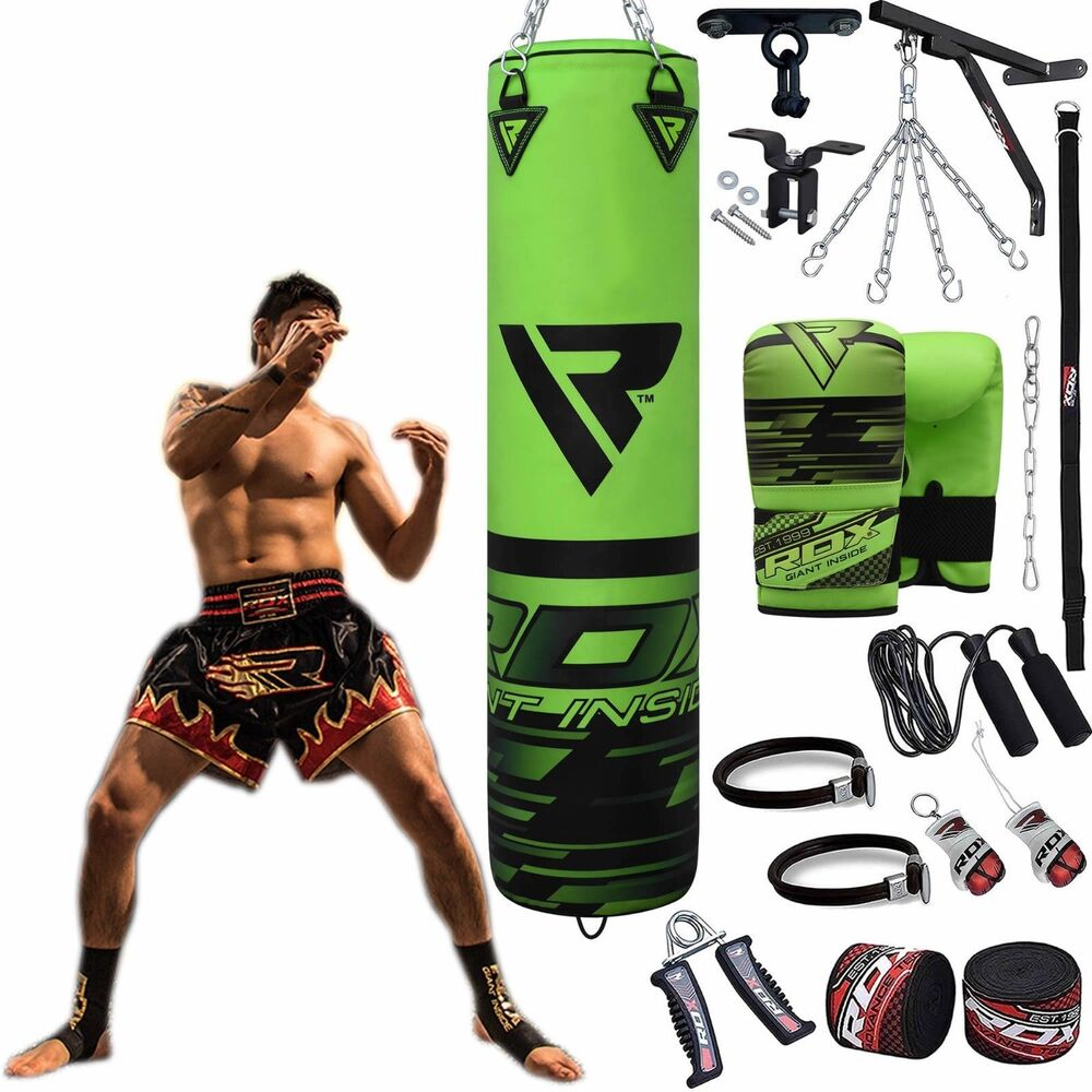 Auth RDX Leather Gel Boxing Gloves Fight,Punch Bag MMA ...