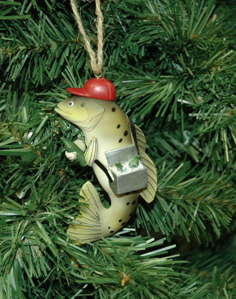 fishing christmas ornaments personalized