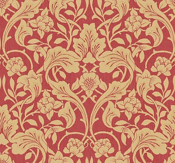 wallpaper sample antonina vella arts and crafts in red ebay