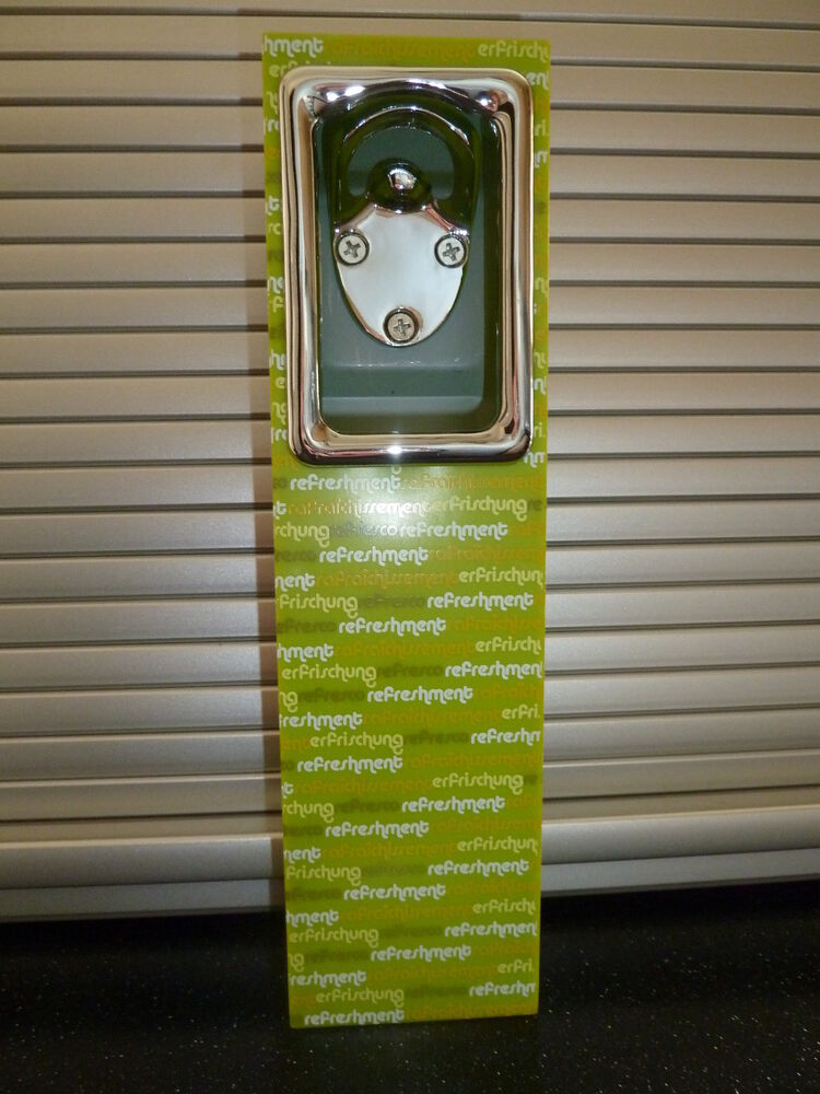 Wall mounted beer bottle opener cap catcher green ebay - Wall mounted beer bottle opener cap catcher ...