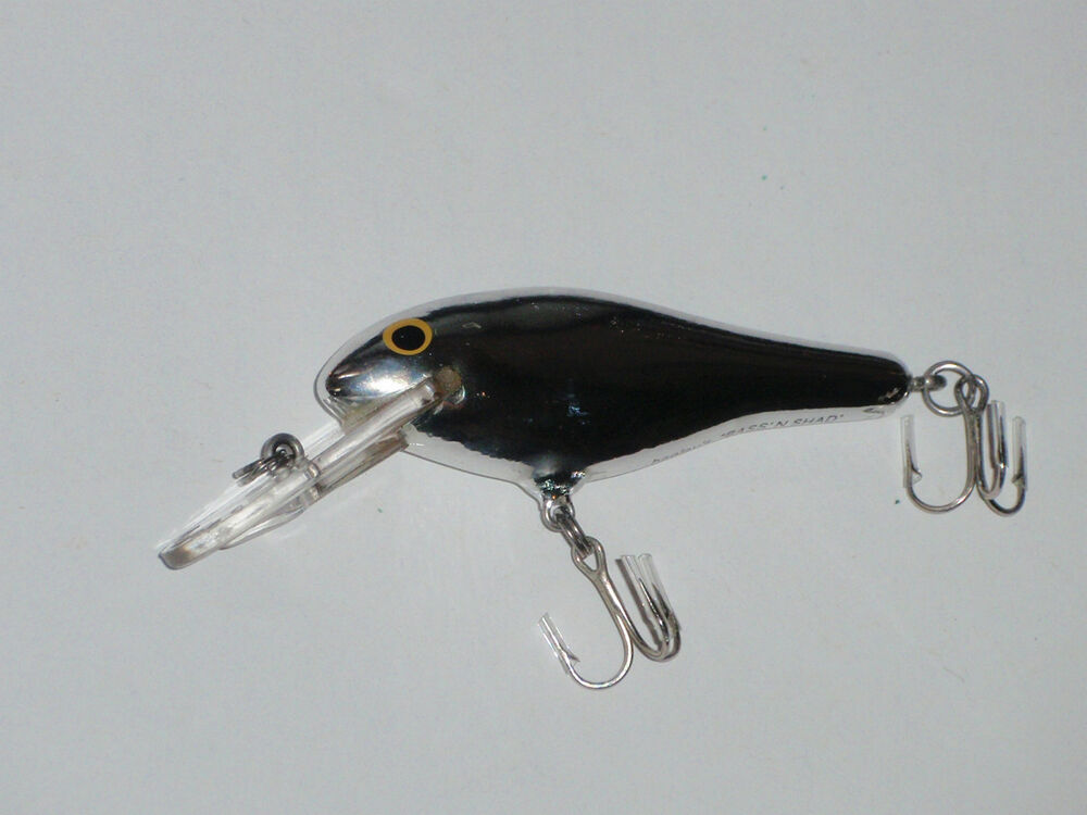 Bagley 39 s bass n shad very rare color fs silver chrome for Shad fishing lures