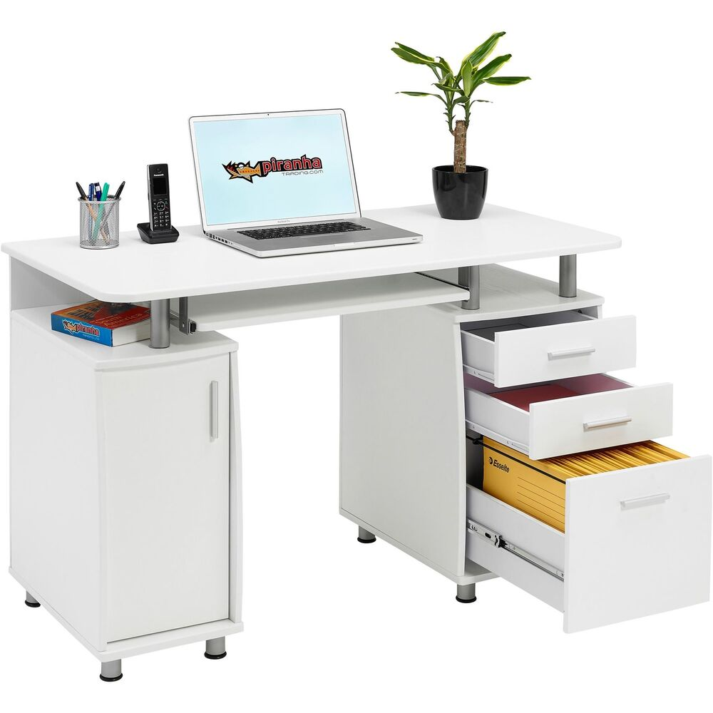 Computer Desk With Storage Amp A4 Filing Drawer Home Office