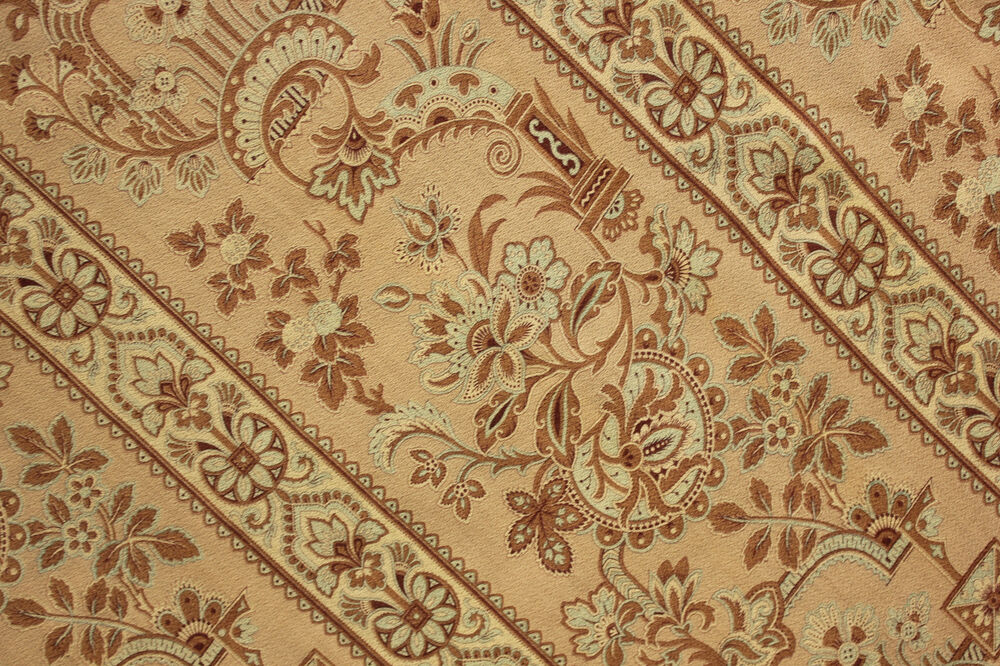 Antique French Arts And Crafts Fabric Material C1880 1890 Bed Curtain Panel Ebay
