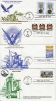 1990s KMC Venture FDC lot of 4 covers