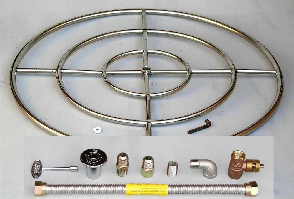 36 quot stainless steel pit burner ring kit gas