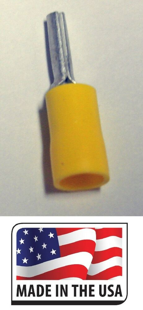 25 12 10 Awg Yellow Vinyl Insulated Pin Terminal Wire