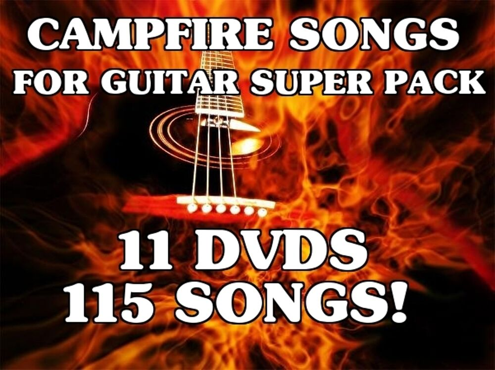 campfire songs for guitar volumes 1 10 dvd lessons learn 115 songs amazing ebay. Black Bedroom Furniture Sets. Home Design Ideas