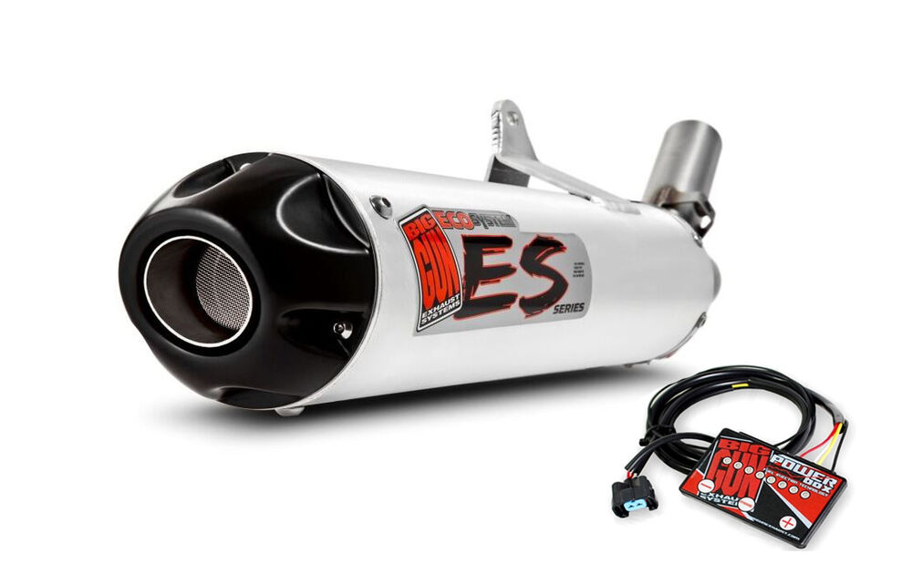 Big gun eco exhaust pipe muffler efi tfi fuel yamaha for 2014 yamaha grizzly 700 exhaust