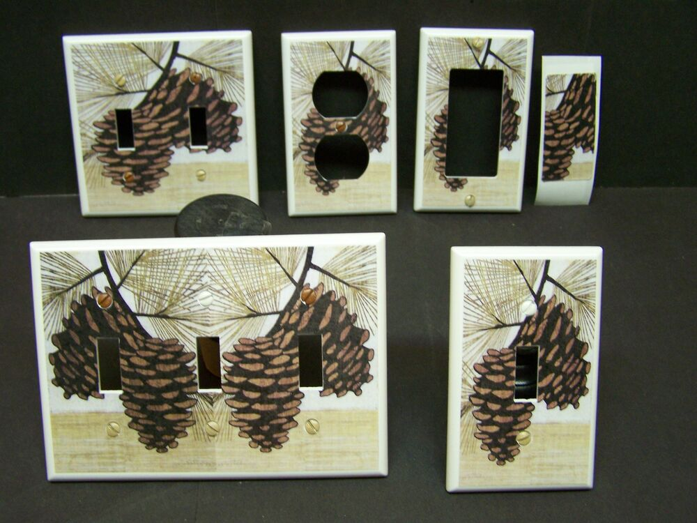 Pine Cones Pine Cone 20 Light Switch Cover Plate Or