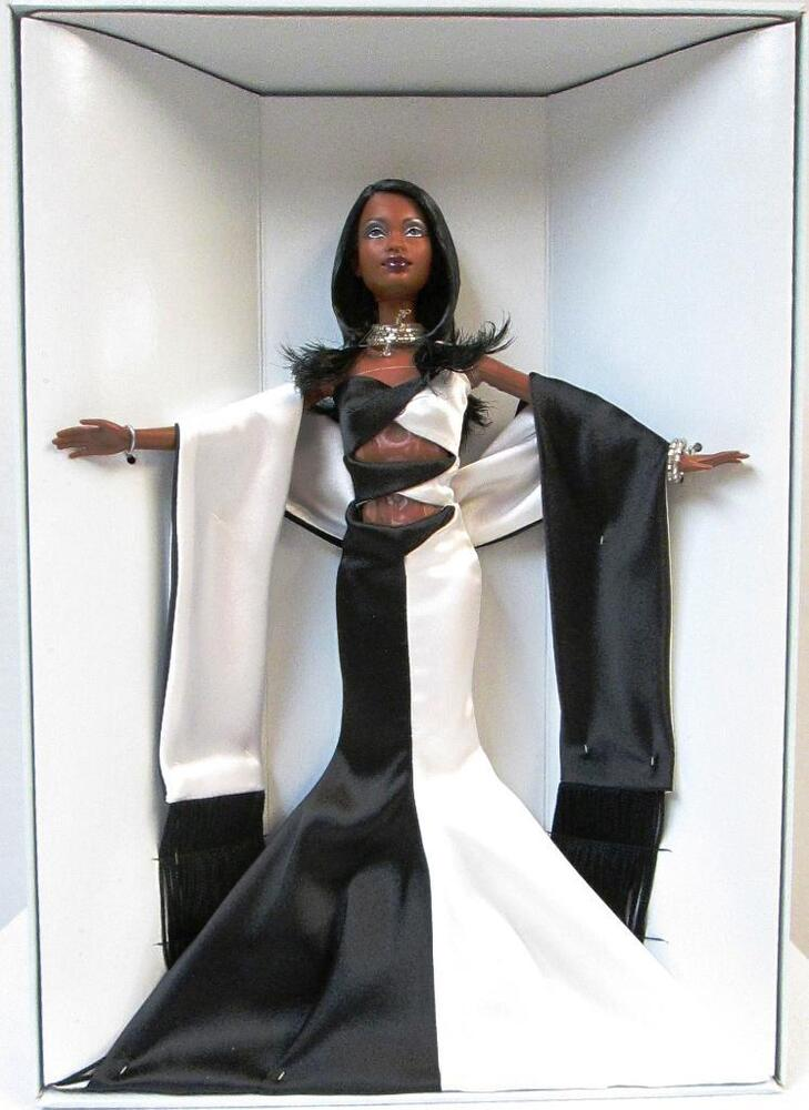 noir et blanc african american barbie doll new ebay. Black Bedroom Furniture Sets. Home Design Ideas
