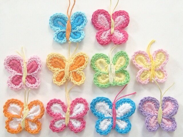 Large Lot of 50 Crocheted Bookmarks Floral Handmade gifts crafts DIY multicolor