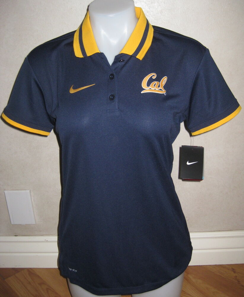 Nike womens cal bears hot route performance polo shirt top for Custom dry fit shirts