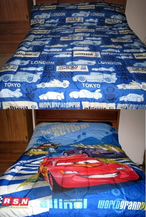 disney pixar cars 2 world grand prix tokyo sheet comforter set