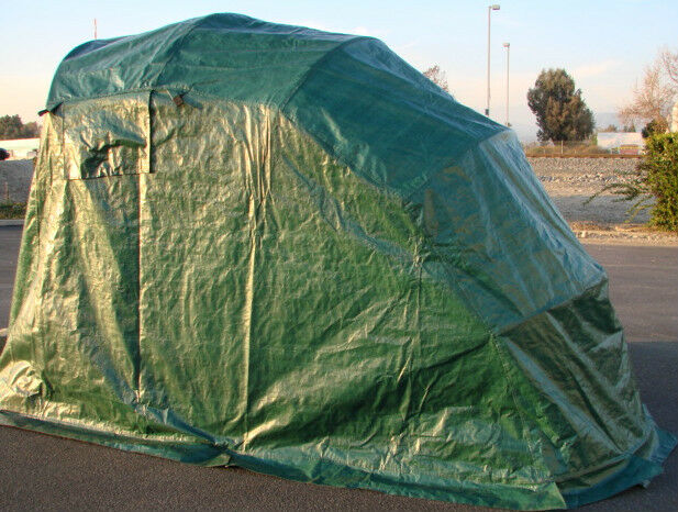 Portable Motorcycle Shelter : Retractable motorcycle sport dirt bike tent portable