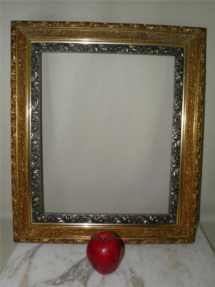 Large antique ornate gilded gesso wood frame for mirror or for Large a frame