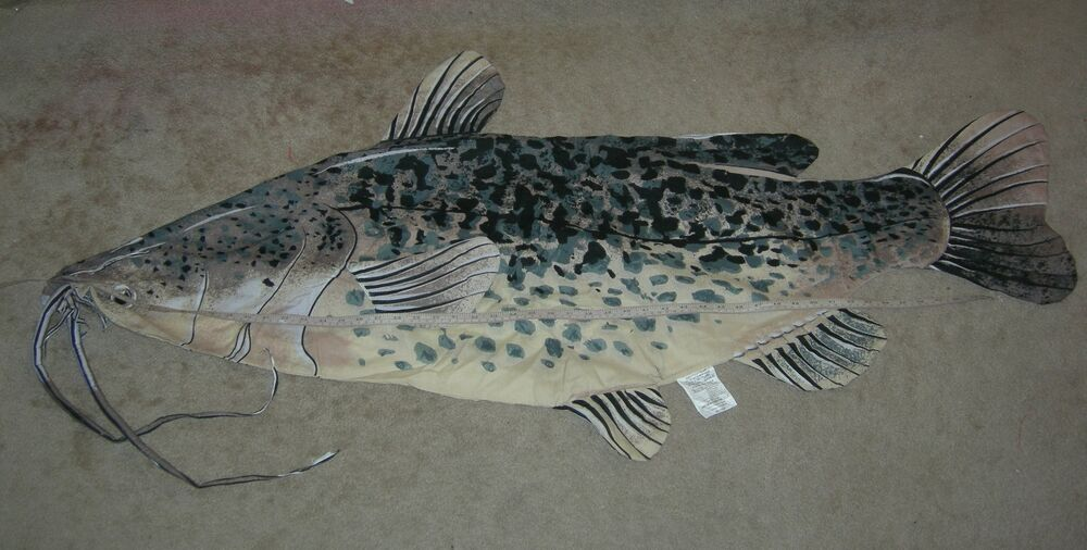 Catfish Pillow Make Your Own Big Fish Pillow Cotton Blend