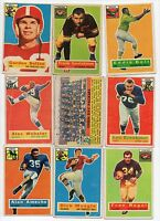 1956 Topps Football Card Partial Set-61 different of 120-over 50% of the Set!
