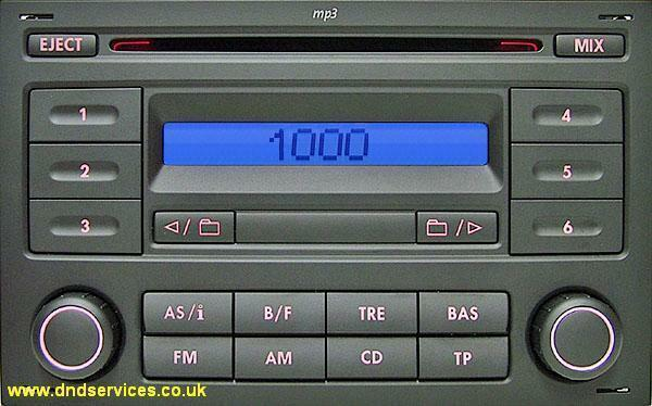 vw refurbished stereo radio mp cd rcd  golf polo ebay