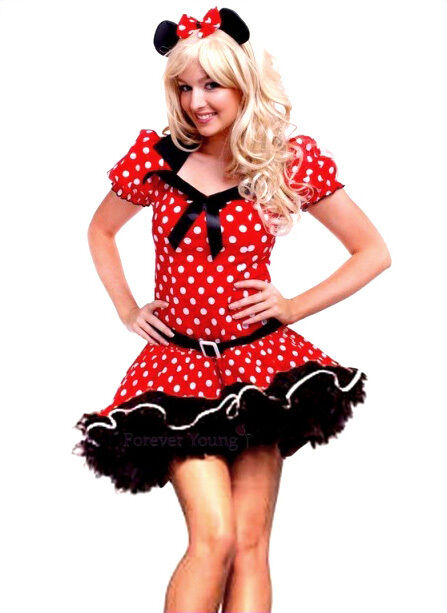 woman minnie mouse fancy dress costume with mouse ear uk 6. Black Bedroom Furniture Sets. Home Design Ideas