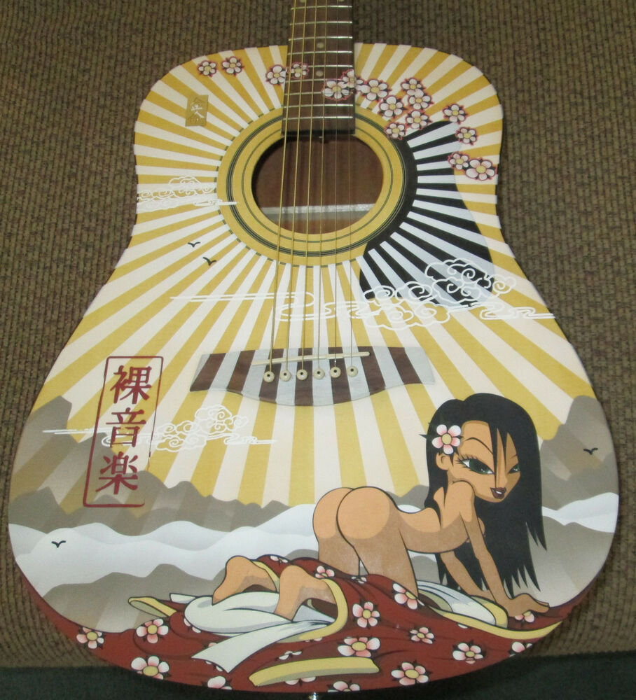Hand Painted Acoustic Guitars