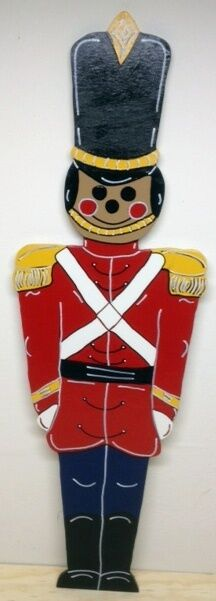 African American Toy Soldier Christmas Lawn Yard Art
