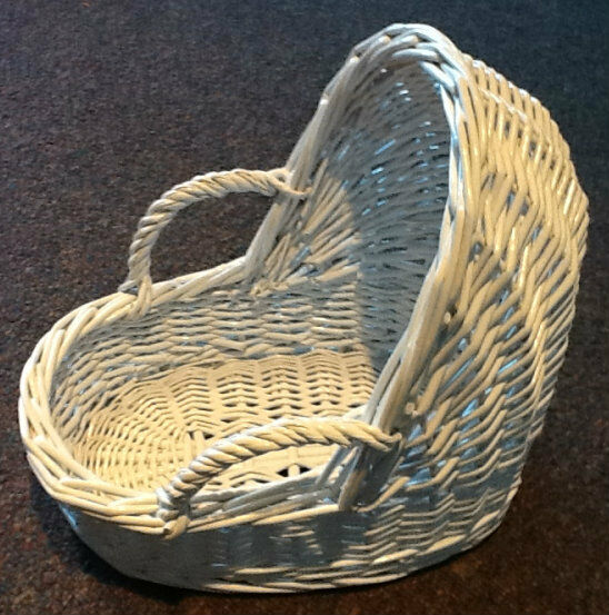 Small white wicker baby bassinet basket quot shower