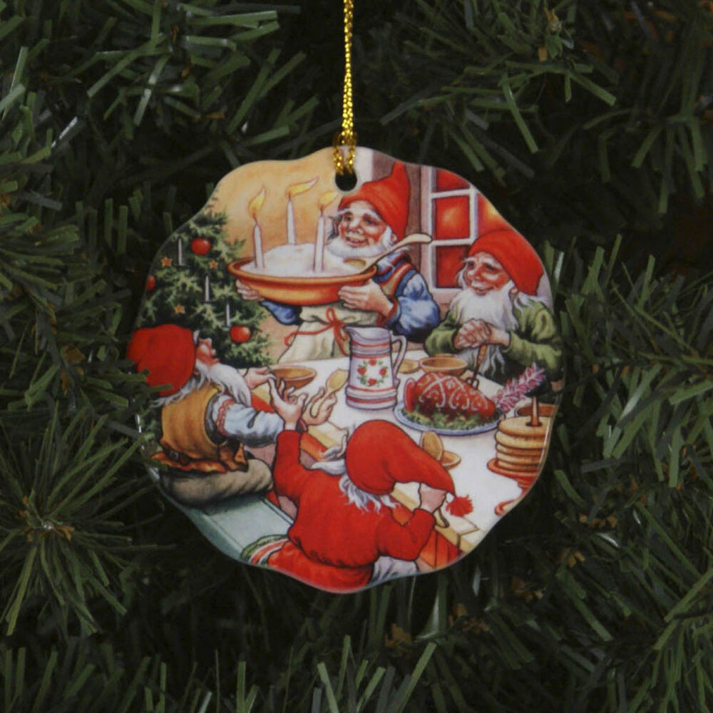 Christmas Tree Sweden: Scandinavian Swedish Christmas Ceramic Ornament Lars